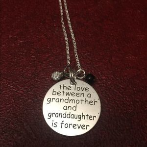 Grandmother/granddaughter pendant necklace 18 inch